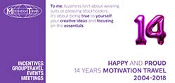 Motivation Travel 14 jaar specialist in incentive reizen
